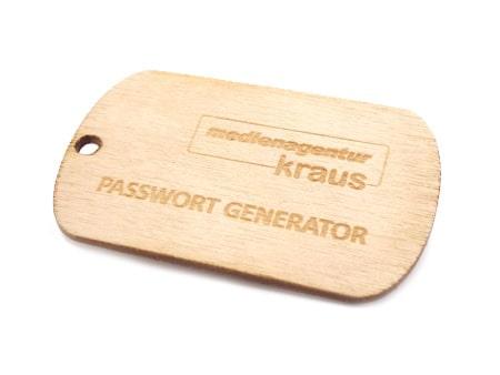 Passwort Generator aus FSC Holz