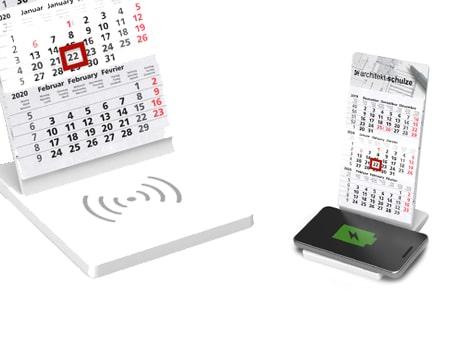 Wireless QI Charging Kalender für den Schreibtisch
