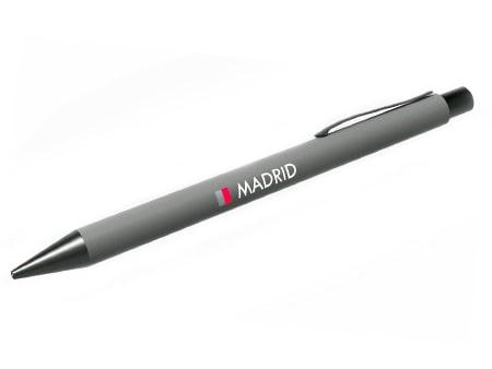 """Pen """"Madrid"""" mit gummierter Oberfläche_"""